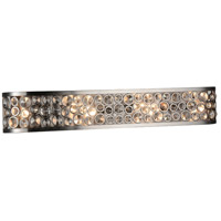 CWI Lighting 9908W34-6-606 Wallula 6 Light 34 inch Satin Nickel Wall Sconce Wall Light