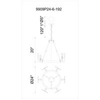 CWI Lighting Brown Glass Chandeliers