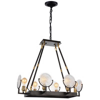 CWI Lighting 9909P28-6-192 Bhima 6 Light 28 inch Brown Chandelier Ceiling Light