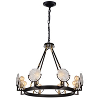 CWI Lighting 9909P30-8-192 Bhima 8 Light 30 inch Brown Chandelier Ceiling Light