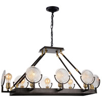 CWI Lighting 9909P37-8-192 Bhima 8 Light 15 inch Brown Chandelier Ceiling Light