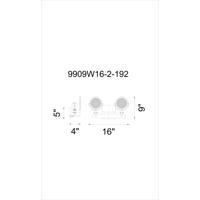 CWI Lighting 9909W16-2-192 Bhima 2 Light 5 inch Brown Wall Sconce Wall Light
