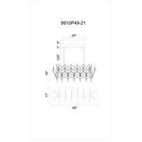 CWI Lighting 9910P49-21-199 Phraya 21 Light 49 inch Light Brown Chandelier Ceiling Light