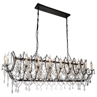 CWI Lighting 9910P49-21-200 Phraya 21 Light 49 inch Dark Brown Chandelier Ceiling Light