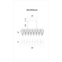 Phraya 24 Light 58 inch Dark Brown Pendant Ceiling Light