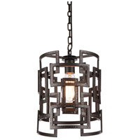CWI Lighting 9913P10-1-205 Litani 1 Light 10 inch Brown Down Chandelier Ceiling Light
