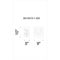 CWI Lighting Brown Metal Wall Sconces