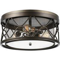 CWI Lighting 9914C16-3-204 Kali 3 Light 16 inch Light Brown Cage Flush Mount Ceiling Light