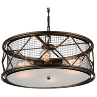 CWI Lighting 9914P22-4-204 Kali 4 Light 22 inch Light Brown Chandelier Ceiling Light