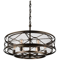 CWI Lighting 9914P32-6-204 Kali 6 Light 32 inch Light Brown Up Chandelier Ceiling Light