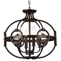 CWI Lighting 9918P16-4-123 Vernal 4 Light 16 inch Brushed Golden Brown Chandelier Ceiling Light