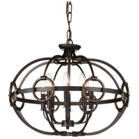 CWI Lighting 9918P23-8-123 Vernal 8 Light 23 inch Brushed Golden Brown Chandelier Ceiling Light