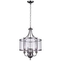 CWI Lighting 9919P16-4-606-A Renishaw 4 Light 16 inch Satin Nickel Chandelier Ceiling Light
