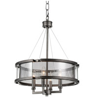 CWI Lighting 9920P18-4-214 Monroe 4 Light 18 inch Black Silver Chandelier Ceiling Light