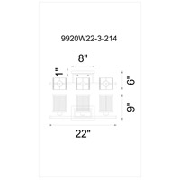 CWI Lighting Black Glass Wall Sconces