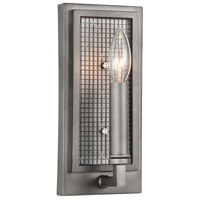 CWI Lighting 9920W5-1-214 Monroe 1 Light 4 inch Black Silver Wall Sconce Wall Light