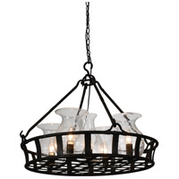 CWI Lighting 9925P26-5-216 Imperial 5 Light 26 inch Antique Black Chandelier Ceiling Light