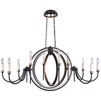 Aurea 10 Light 48 inch Golden Brown Chandelier Ceiling Light
