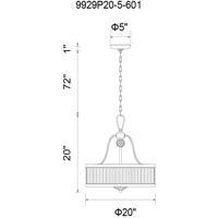 CWI Lighting 9929P20-5-601 Belvoir 5 Light 20 inch Chrome Chandelier Ceiling Light