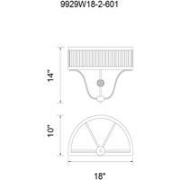 CWI Lighting 9929W18-2-601 Belvoir 2 Light 18 inch Chrome Wall Sconce Wall Light