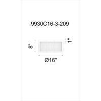 CWI Lighting 9930C16-3-209 Manito 3 Light 16 inch Pewter Flush Mount Ceiling Light