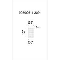 CWI Lighting 9930C6-1-209 Manito 1 Light 6 inch Pewter Flush Mount Ceiling Light