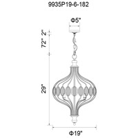 CWI Lighting 9935P19-6-182 Altair 6 Light 19 inch Antique Bronze Chandelier Ceiling Light