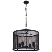 CWI Lighting 9937P18-4-219 Heale 4 Light 18 inch Reddish Black Chandelier Ceiling Light