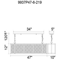 CWI Lighting Reddish Black Metal Chandeliers