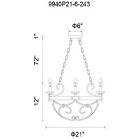 CWI Lighting Metal Havely Chandeliers