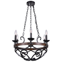 CWI Lighting 9940P21-6-243 Morden 6 Light 21 inch Gun Metal Candle Chandelier Ceiling Light
