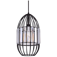 Alethia 1 Light 8 inch Black Chandelier Ceiling Light