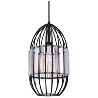CWI Lighting 9942P8-1-101 Alethia 1 Light 8 inch Black Down Mini Pendant Ceiling Light