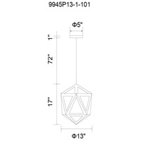 Lante 1 Light 13 inch Natural Wood Chandelier Ceiling Light