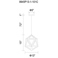 Lante 1 Light 13 inch Cherry Chandelier Ceiling Light