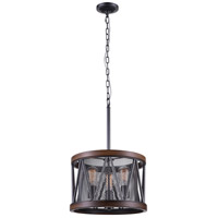 CWI Lighting 9954P16-3-101 Parsh 3 Light 16 inch Pewter Chandelier Ceiling Light