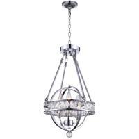 CWI Lighting 9957P12-3-601 Arkansas 3 Light 12 inch Chrome Mini Chandelier Ceiling Light