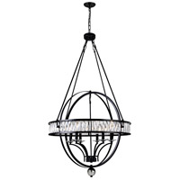 CWI Lighting 9957P30-6-101 Arkansas 6 Light 30 inch Black Chandelier Ceiling Light