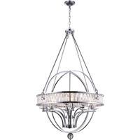 CWI Lighting 9957P42-12-601 Arkansas 12 Light 42 inch Chrome Chandelier Ceiling Light