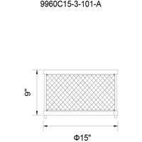 CWI Lighting 9960C15-3-101-A Kayan 3 Light 15 inch Black Cage Flush Mount Ceiling Light
