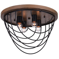 CWI Lighting 9962C18-4-101 Gala 4 Light 18 inch Black Flush Mount Ceiling Light
