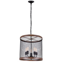 CWI Lighting 9964P20-5-101 Torres 5 Light 20 inch Black Chandelier Ceiling Light