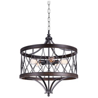 CWI Lighting 9966P23-5-242-B Amazon 5 Light 23 inch Gun Metal Drum Shade Chandelier Ceiling Light