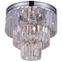 CWI Lighting 9969C12-8-601 Weiss 8 Light 12 inch Chrome Flush Mount Ceiling Light