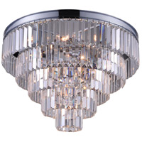 CWI Lighting 9969C18-7-601 Weiss 7 Light 18 inch Chrome Flush Mount Ceiling Light