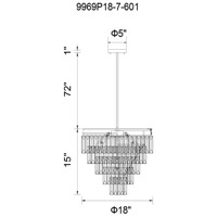 CWI Lighting 9969P18-7-601 Weiss 7 Light 18 inch Chrome Chandelier Ceiling Light