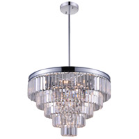 CWI Lighting 9969P24-12-601 Weiss 12 Light 24 inch Chrome Chandelier Ceiling Light