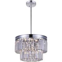 CWI Lighting 9969P8-5-601 Weiss 5 Light 8 inch Chrome Pendant Ceiling Light