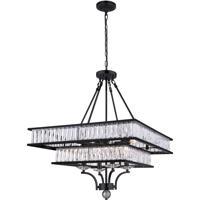 CWI Lighting 9972P23-8-101 Shalia 8 Light 23 inch Black Chandelier Ceiling Light