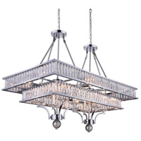 CWI Lighting 9972P37-16-601 Shalia 16 Light 37 inch Chrome Island Chandelier Ceiling Light
